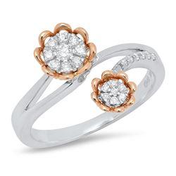 14K Yellow Gold 0.18CTW Diamond Ring, (I1/G-H)