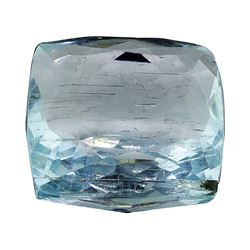 7.68 ct.Natural Cushion Cut Aquamarine