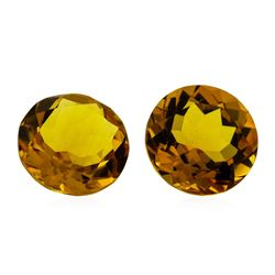 11.12 ctw.Natural Round Cut Citrine Quartz Parcel of Two
