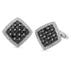 18k Gold 2.5CTW Diamond Cuff Links, (SI1-SI2/G-H)