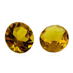8.90 ctw.Natural Round Cut Citrine Quartz Parcel of Two