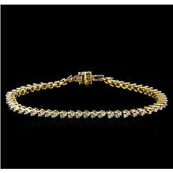 1.82 ctw Diamond Tennis Bracelet - 14KT Yellow Gold