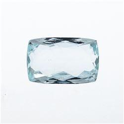 6.90 ct. Natural Cushion Cut Aquamarine