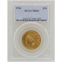 1926 $10 Indian Head Eagle Gold Coin PCGS MS62