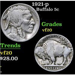 1921-p . . Buffalo Nickel 5c Grades vf, very fine