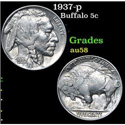 1937-p . . Buffalo Nickel 5c Grades Choice AU/BU Slider