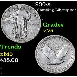 1930-s . . Standing Liberty Quarter 25c Grades vf++