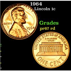 1964 . . Lincoln Cent 1c Grades Gem++ Proof Red