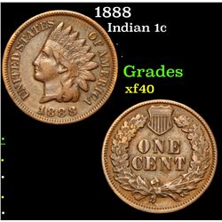 1888 . . Indian Cent 1c Grades xf