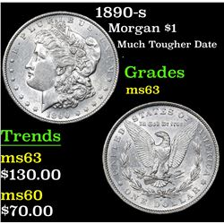 1890-s Much Tougher Date . Morgan Dollar $1 Grades Select Unc