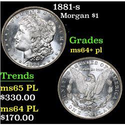 1881-s . . Morgan Dollar $1 Grades Choice Unc+ PL