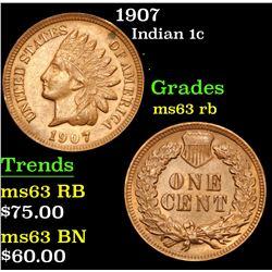 1907 . . Indian Cent 1c Grades Select Unc RB
