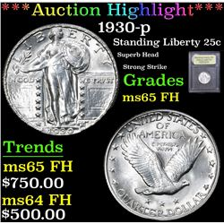 *Auction Highlight* 1930-p Superb Head Strong Strike Standing Liberty 25c Graded GEM FH By USCG (fc)