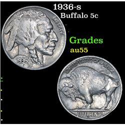 1936-s . . Buffalo Nickel 5c Grades Choice AU