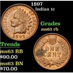 1897 . . Indian Cent 1c Grades Select Unc RB