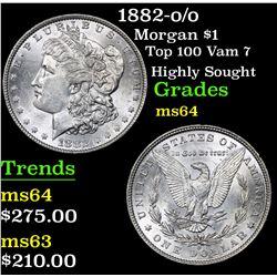 1882-o/o Top 100 Vam 7 Highly Sought Morgan Dollar $1 Grades Choice Unc