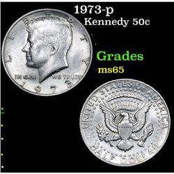 1973-p . . Kennedy Half Dollar 50c Grades GEM Unc