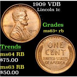 1909 VDB . . Lincoln Cent 1c Grades Select+ Unc RB