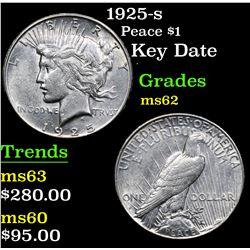 1925-s Key Date . Peace Dollar $1 Grades Select Unc
