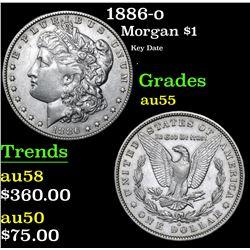 1886-o Key Date . Morgan Dollar $1 Grades Choice AU