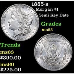 1885-s Semi Key Date . Morgan Dollar $1 Grades Select Unc
