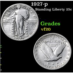 1927-p . . Standing Liberty Quarter 25c Grades vf, very fine