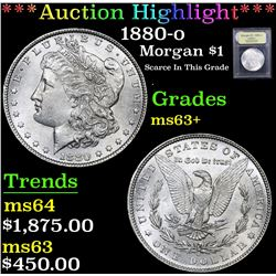 *Auction Highlight* 1880-o Scarce In This Grade . Morgan Dollar $1 Graded Select+ Unc By USCG (fc)