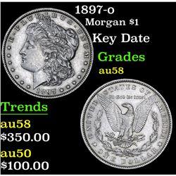 1897-o Key Date . Morgan Dollar $1 Grades Choice AU/BU Slider