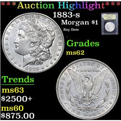 ***Auction Highlight*** 1883-s Key Date . Morgan Dollar $1 Graded Select Unc By USCG (fc)