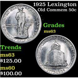 1925 Lexington . . Old Commem Half Dollar 50c Grades Select Unc