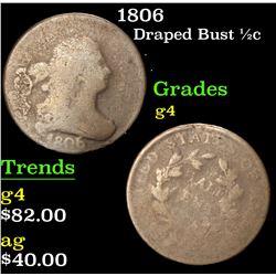 1806 . . Draped Bust Half Cent 1/2c Grades g, good