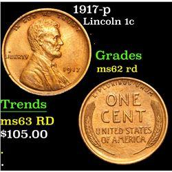1917-p . . Lincoln Cent 1c Grades Select Unc RD