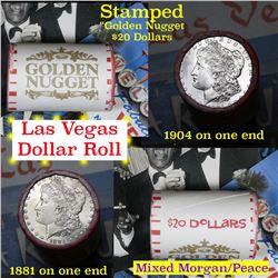 ***Auction Highlight*** Mixed Morgan & Peace Golden Nugget Casino Roll . . (fc)