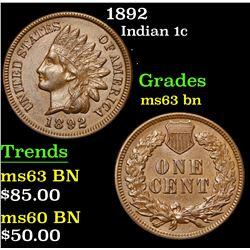 1892 . . Indian Cent 1c Grades Select Unc BN