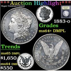 *Auction Highlight* 1883-o Super Contrast Cameo! Morgan $1 Graded Choice Unc+ DMPL By USCG (fc)