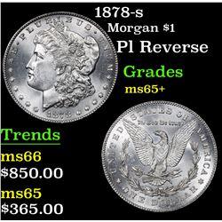 1878-s Pl Reverse . Morgan Dollar $1 Grades GEM+ Unc