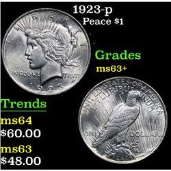 1923-p . . Peace Dollar $1 Grades Select+ Unc