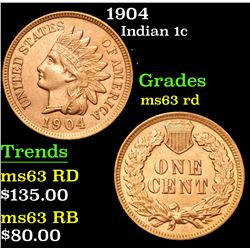 1904 . . Indian Cent 1c Grades Select Unc RD