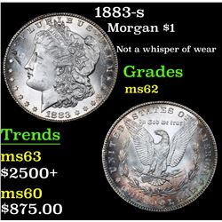 ***Auction Highlight*** 1883-s Not a whisper of wear . Morgan Dollar $1 Grades Select Unc (fc)