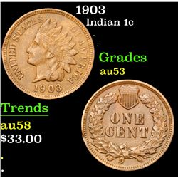 1903 . . Indian Cent 1c Grades Select AU