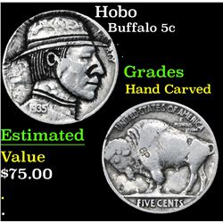 Hobo . . Buffalo Nickel 5c Grades Hand Carved