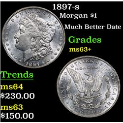 1897-s Much Better Date . Morgan Dollar $1 Grades Select+ Unc