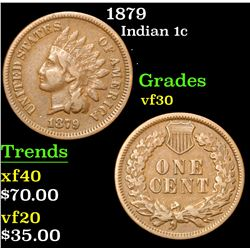 1879 . . Indian Cent 1c Grades vf++
