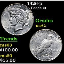 1926-p . . Peace Dollar $1 Grades Select Unc