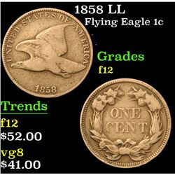 1858 LL . . Flying Eagle Cent 1c Grades f, fine