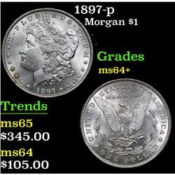 1897-p . . Morgan Dollar $1 Grades Choice+ Unc