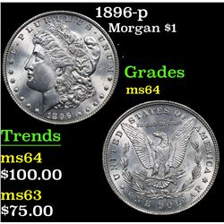 1896-p . . Morgan Dollar $1 Grades Choice Unc