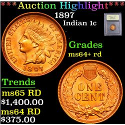 ***Auction Highlight*** 1897 . . Indian Cent 1c Graded Choice+ Unc RD By USCG (fc)