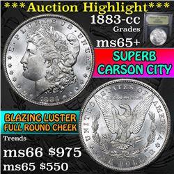 ***Auction Highlight*** 1883-cc Morgan Dollar $1 Graded GEM+ Unc by USCG (fc)