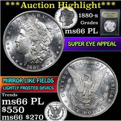 ***Auction Highlight*** 1880-s Morgan Dollar $1 Graded GEM+ UNC PL by USCG (fc)